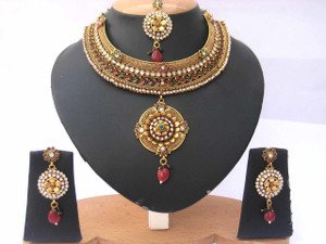 Bollywood Designer Indian Wedding Bridal Party Wear Fashion Jewelry Necklace Set