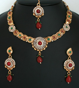 Kundan Polki Statement Necklace Antique Bridal Jewelry Wedding Collection