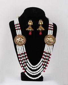 Rajwadi multi strand designer necklace set