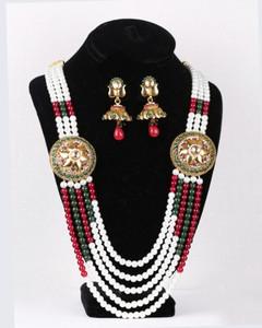 rajwadi kundan necklace with attractive jhumki