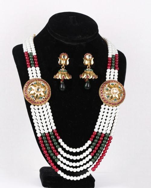 Colorful rajwadi necklace jewellery