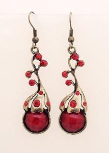 Red Fashion Dangling Earrings