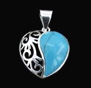Handmade Turquoise cabochon Sterling Silver Gemstone Pendant