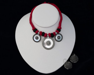 Traditional German Silver Necklace Set Indian Women Antique Jewelry