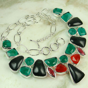925 silver fashion gemstone green Multi Quartz Jewellery