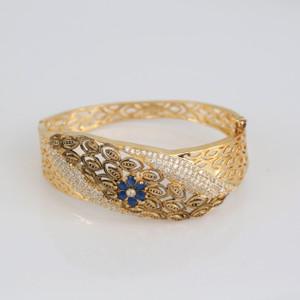 Indian Jewelry Bollywood CZ AD Golden Bangle Kada