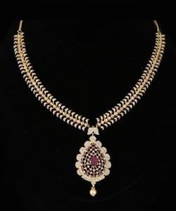 American Diamond CZ Zircon Fashion Jewellery Set Necklace Earrings for Women