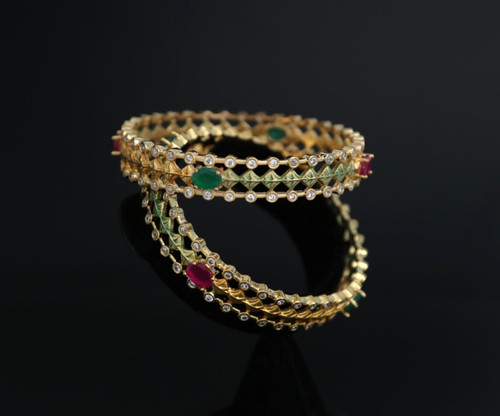 Pretty stone bangles