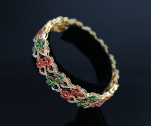 Floral designs bangle from Indian Designs