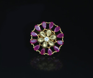 Gorgeous Gold plated AD Cut Stone adjustable Ring