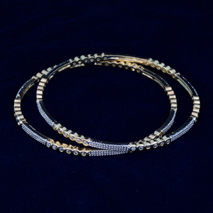 Indian Bangles - Stunning Set of 4 Gold Plated AD Stone Bangles contemporary jewelry - Fashion Bangles