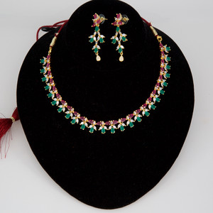 American Diamond bridal necklace with earrings