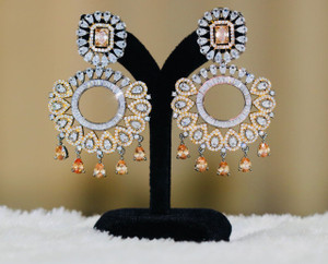 Topaz rhinestone earrings