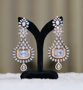 Clear CZ Earrings for women