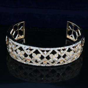 24K gold plated open cuff bracelet