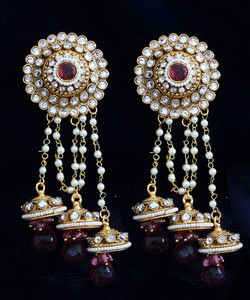 Light Pink jhumaka earrings