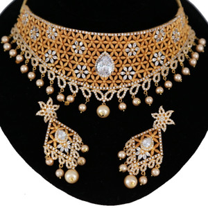 Clear CZ Wedding fashion necklace
