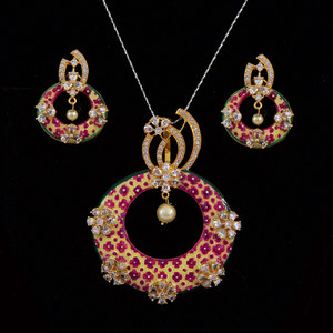 22k gold plated pendant set
