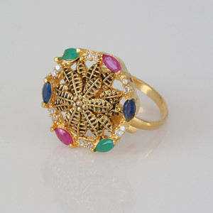 Multicolor ad stones fashion ring