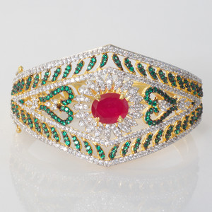 CZ AD kada broad wedding bracelet