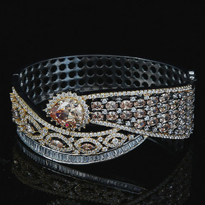 14K Gold Silver Lab Diamond Bracelet Costume Jewelry with Topaz stone