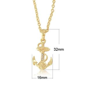 Gold tone tiny anchor charm pendant jewelry