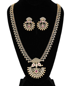 Pink Ruby Stone Zircon Bridesmaid jewelry