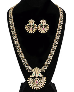 Emerald Ruby Cubic zirconia American Diamond jewellery