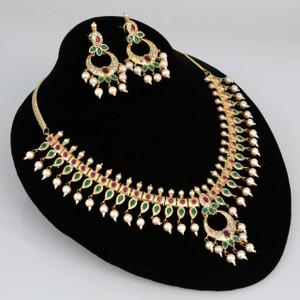 18K Gold Meenakari kundan choker jewellery