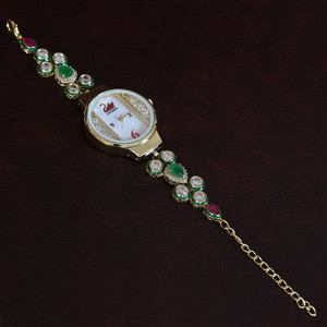Luxury fashion quartz bracelet gold plated womens designer wrist watch