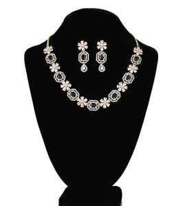 Black Emerald Cut Octagon Shape Crystal Necklace