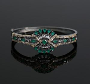 AD American Diamond Emerald Green Bracelet