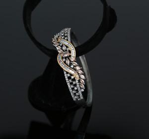 Topaz Marquise CZ Clip Open Bracelet Bangle