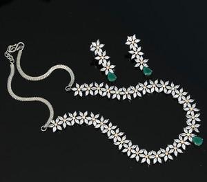 wedding wear cubic zirconia necklace