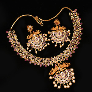 Traditional Designed Ruby Stones studded Necklace