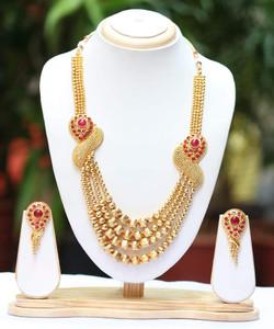 Pink Ruby Kundan Stones Jewelry