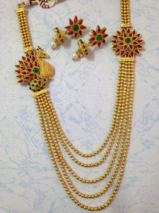 Multicolor Royal Kundan Stunning Peacock Style necklace