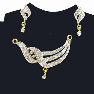 Mangalsutra Pendant with Chain and Earrings
