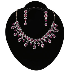 Latest Design CZ Pink Ruby American Diamond