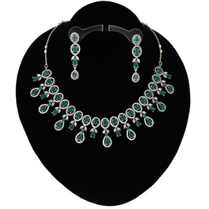 Latest Design CZ Emerald Green American Diamond
