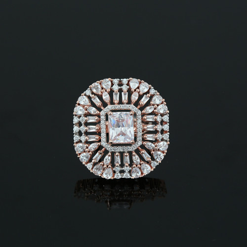 White Simulated Diamond Emerald Cushion Cut Large CZ