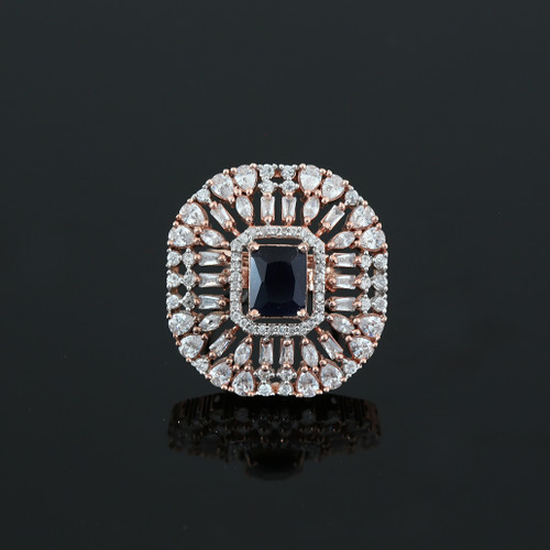 Blue Simulated Diamond Emerald Cushion Cut Large CZ