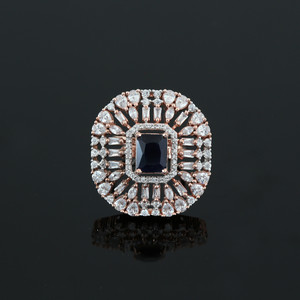 Blue Simulated Diamond Emerald Cushion Cut Large CZ