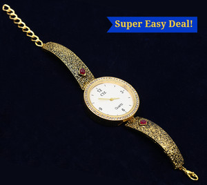 Meenakari Bracelet Watch Rhinestones Traditional Jewelry