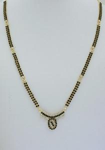 White and Black stone studded Mangalsutra -08MAS21