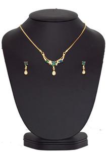Celebrity costume design rhinestone 24k gold plated spring bloom necklace set -CJJEWELR7
