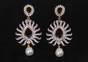 Sapphire Blue stones fashion earrings