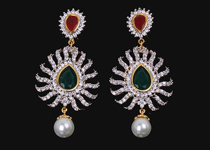 Fuchsia,Emerald fashion earrings