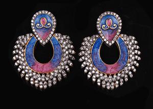 Blue,Purple fashion earrings