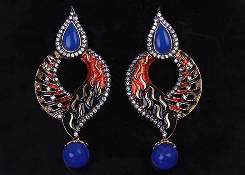 240eb61ec sapphire Blue stones fashion earrings